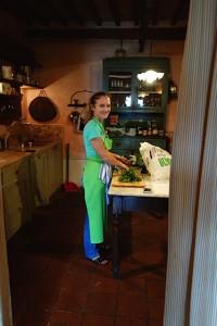 Kokken på kjøkkenet
