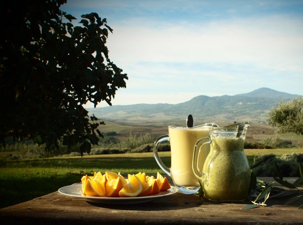 Friske smoothier i Toscana. Foto: Jannik Abel