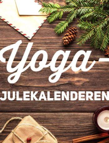 Yoga julekalenderen oppslag julepynt