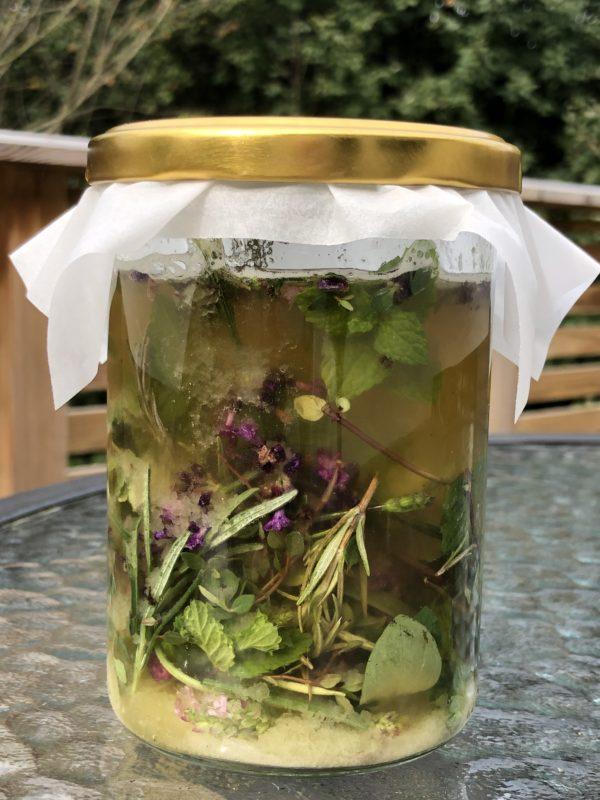 Glass med oxymel urter